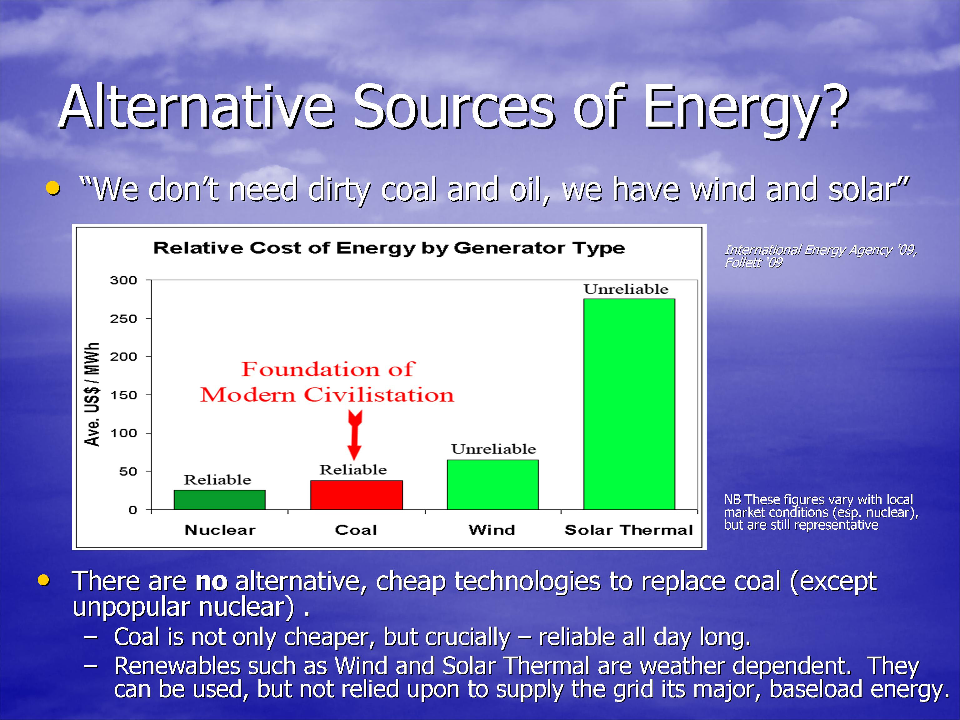 the growing need for alternative energy sources in the world today Possible future alternative energy sources are solar, wind and geothermal as you are reading this oil and gas is being pumped out of the ground all around the world to drive the global economy the modern western society is still completely dependent on fossil fuel energy to sustain its way of living.
